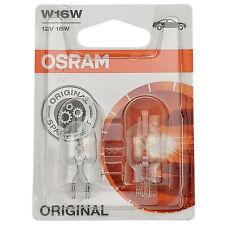 2 x Osram W16W 12V 16W W2,1x9,5d Glassockellampe 921-02B Lampe KFZ