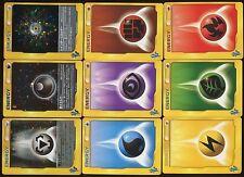 POKEMON JAPANESE JAPONAISE X9 CARDS Complete ENERGY VS SERIE Lot N° LPJ9 001