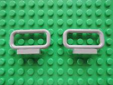 Lego 2 x Zaun Absperrung 6187 alt hellgrau  1x4x2  6332 6636 10013