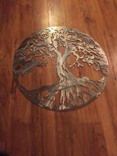 "Tree of Life Metal Wall Art Home Decor POWDER COATED CLEAR 24"" 14 Gauge USA"