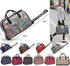 Women's Travel Bag Holdall  Luggage Meium/ Large Weekend Handbag Wheeled Trolley