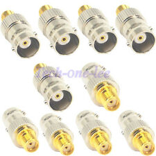 10pcs SMA Female To BNC Female Connector Antenna Radio Adapter Converter Test