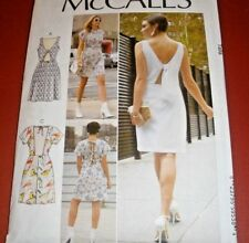 McCall's 7740  Misses' Lined Dresses Keyhole Open Tie Back 6-14 or 14-22
