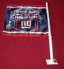 NEW YORK GIANTS NFL FOOTBALL SPORTS SUPER BOWL 46 CHAMPIONS CAR WINDOW FLAG