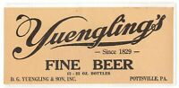 (2) LARGE AND VERY OLD  YUENGLING BEER LABELS