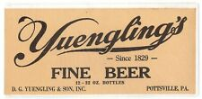 New listing (2) Large And Very Old Yuengling Paper Beer Labels