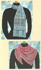 Two lace scarf patterns