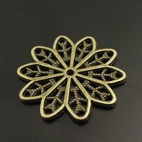 38083 Antique Bronze Alloy Flower Shaped Charms Pendants Jewelry Findings 20PCS