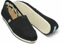 Women's Shoes TOMS CLASSICS Casual Slip On Canvas Loafer BLACK Alpargata New