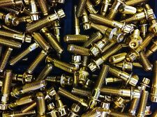 (140 Pcs) 8mm Gold Chrome Plated Bolts & Nuts For 2 And 3 Pc Wheel