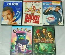 Five Dvd Movies Bruce Almighty, Click, Daddy Day Care, Pirates Of The Caribbean