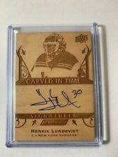 2019-20 UD Engrained Henrik Lundqvist Carved in Time Signatures Card #CTS-6