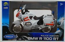WELLY BMW R 1100 RT POLICE 1:18 DIE CAST MODEL NEW LICENSED MOTORCYCLE POLIZEI