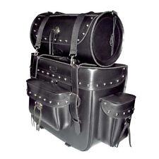 TM Motorcycle Travel Highway Sissy Bar Bag Black TMBAG004