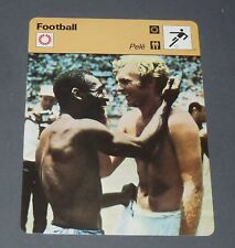 FICHE FOOTBALL MEXICO 70 1970 PELE BRESIL BRASIL BOBBY MOORE ENGLAND