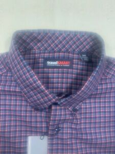 Roundtree & Yorke Travel smart mens size 2XLT tall long sleeve oxford shirt NWT