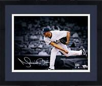 "Framed Mariano Rivera New York Yankees Signed 11"" x 14"" Pitching Spotlight Photo"