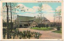 Shrine Country Club in Little Rock AR Postcard 1931