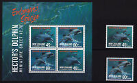 New Zealand - 1991 Hector's Dolphin - U/M - SG 1620-1621 + MS1622