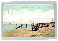 Bathing Beach, Chicago IL c1908 Postcard Z9