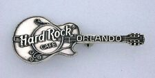 Hard Rock Cafe Guitar Orlando Pure Solid .925 Sterling Silver Pin Brooche