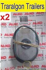 "2x offroad 10"" oval electric brake magnet caravan trailer alko D60/1, D55"