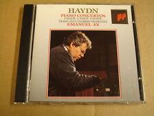 CD SONY CLASSICAL / HAYDN - 3 PIANO CONCERTOS / EMANUEL AX