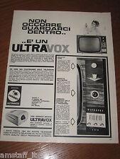 AA19=1963=ULTRAVOX TV TELEVISORE TELEVISIONE=PUBBLICITA'=ADVERTISING=WERBUNG=