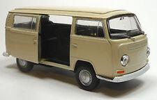 VW Bus (1972) Bulli T2 beige Modellauto Spritzguss 1:37 mit Schiebetür WELLY