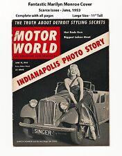 GORGEOUS MARILYN MONROE CAR COVER! - MOTOR WORLD - VERY SCARCE 1953