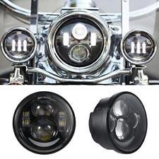 """4.65"""" Black LED Daymaker Headlight Lights For Harley Dyna Fat Bob FXDF 2008-2015"""