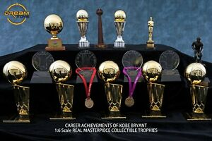 Kobe Bryant #24 🏀 CAREER ACHIEVEMENTS 1/6 REAL Masterpiece Collectible Trophies