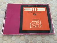 PORSCHE OFFICIAL ORIGINAL 911 S COUPE & TARGA OWNERS MANUAL 1970 USA EDITION.