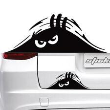 Funny Anger Peeking Monster Car Stickers Waterproof Black Scratch Window Decal