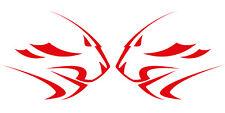 APRILIA Leones Cabeza Rojo Motocicleta Calcomanías Gráficos X 2PCS Grande