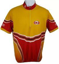 Louis Garneau Mens Red Orange Yellow Cycling Jersey L