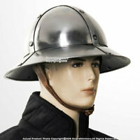 Medieval Kettle Hat Helmet Reenactment larp role-play infantry Spanish AJ309