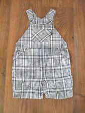 Boys Size Ages 12 - 18 Months Navy Blue White Next Dungaree CHECKED KIDS SUMMER