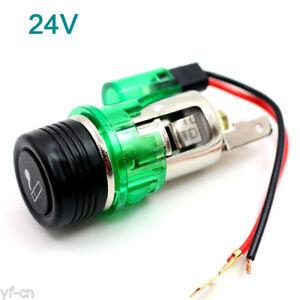 20pcs 24V Waterproof Car Motorcycle Cigarette Lighter Power Socket Plug Outlet