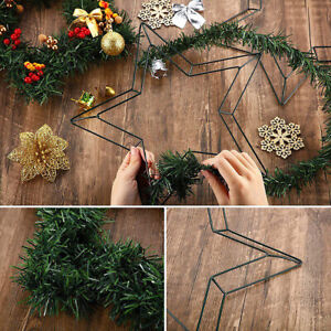 Pentagram Wire Wreath Frame Metal Star-Shaped Garland Ring DIY  Holiday Wedding