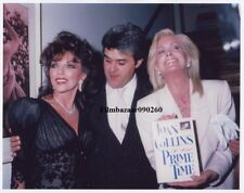 """JOAN COLLINS - JOAN VAN ARK - 10"""" x 8"""" Photo PRIME TIME BOOK Launch Party '88 F1"""