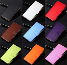 Genuine Leather Wallet Case Flip Stand Cover For HTC One M8