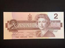 1986 CANADIAN $2 Banknote. UNcirculated