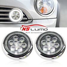 LED Halo Rally DRL Daytime Driving Light For Mini Cooper R55 R56 R58 R60 Chrome