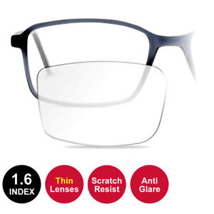 1.6 THIN Coated RX Lenses Fitted to Frame - Anti Glare /Scratch Resist /UV Block