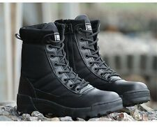 Men's Military Ankle Boots Outdoor Shoes High top Tactical Combat Safety Hiking