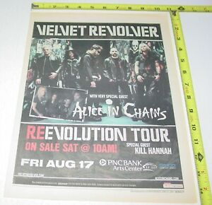 Velvet Revolver Alice in Chains Concert AD Advert 2007 Tour PNC Arts Center NJ