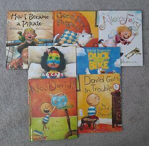 Lot 7 Picture Books by David Shannon Pirate Alice Stripes Duck NO David Trouble