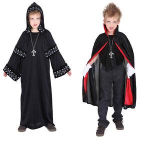 Teufels Umhang Cape Kutte Kostüm Dracula Vampir Kinder Karneval Gotik Halloween