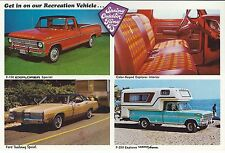 5 NOS Vintage 1969 Ford Dealer Postcards: F-100, F-250 Explorer Special, Camper